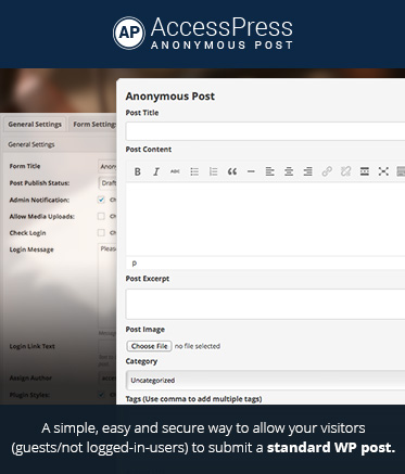 WordPress Frontend Post Plugin - AccessPress Anonymous Post