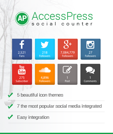 WordPress Social Counter Plugin - AccessPress Social Counter