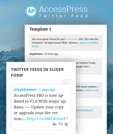 WordPress Twitter Feed Plugin - AccessPress Twitter Feed