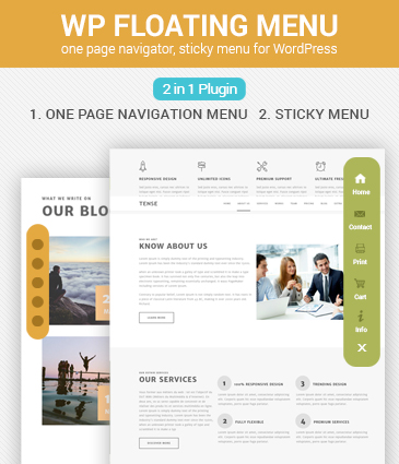 One page navigator, sticky menu for WordPress - WP Floating Menu