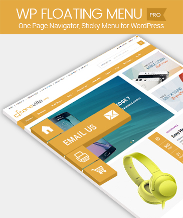 One Page navigator, sticky menu for WordPress - WP Floating Menu Pro
