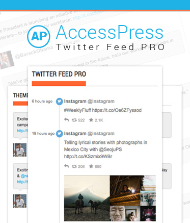 WordPress Twitter Feed Premium Plugin - AccessPress Twitter Feed Pro