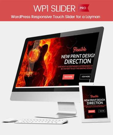 WordPress Responsive Touch Slider for a Layman - WP1 Slider Pro