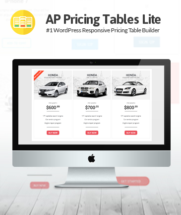 Responsive Pricing Table Builder Plugin for WordPress - AP Pricing Tables Lite