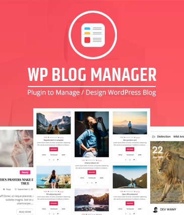Plugin to Manage / Design WordPress Blog - WP Blog Manager