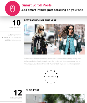 Free WordPress Infinite Post Loader (Scroller) Plugin - Smart Scroll Posts