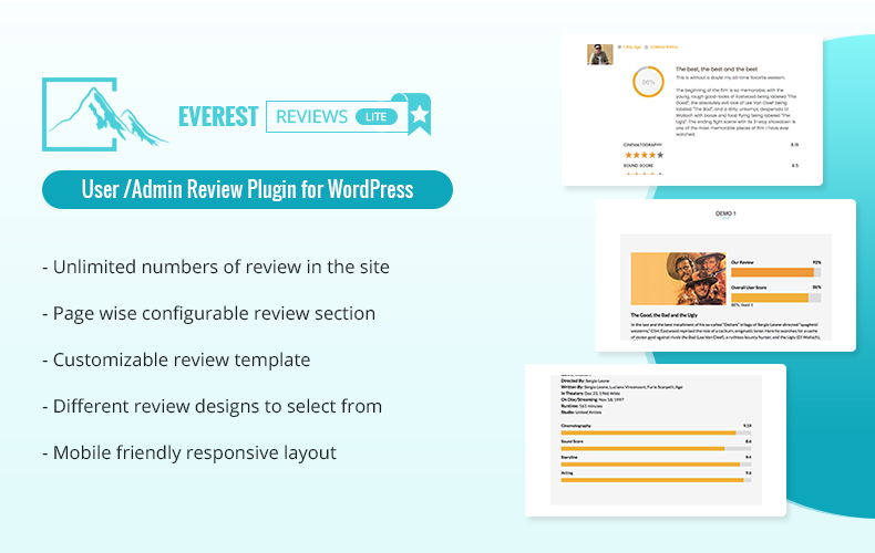 User/Admin review plugin for WordPress – Everest Review Lite
