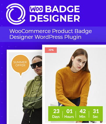 WooCommerce Product Badge Designer WordPress Plugin - Woo Badge Designer