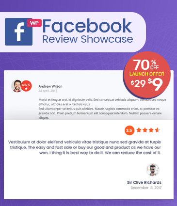 FB Page Review Plugin for WordPress - WP Facebook Review Showcase