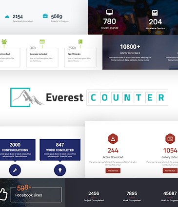 Beautiful Stat Counter Plugin for WordPress - Everest Counter