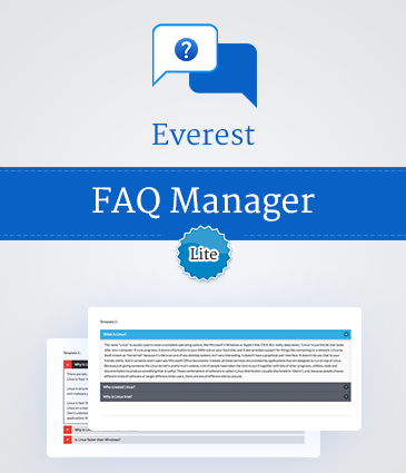 Beautiful FAQ Plugin for WordPress - Everest FAQ Manager Lite