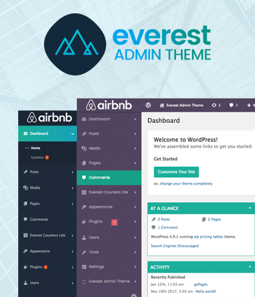 WordPress Backend Customizer - Everest Admin Theme