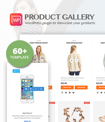 Responsive Products Showcase Listing for WordPress - WP Product Gallery
