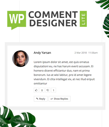 Free Design WordPress Comments And Comment Form - WP Comment Designer Lite