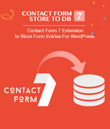 Contact Form 7 Extension to Store Form Entries For WordPress - Contact Form 7 Store to DB