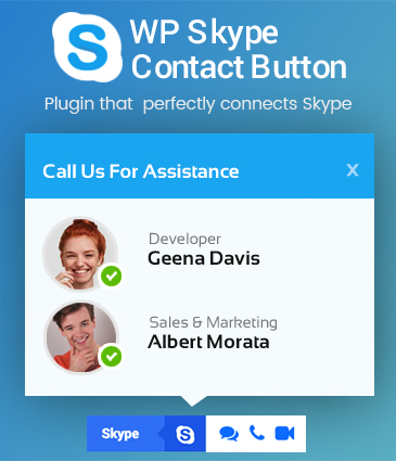 Skype Contact Button for WordPress - WP Skype Contact Button