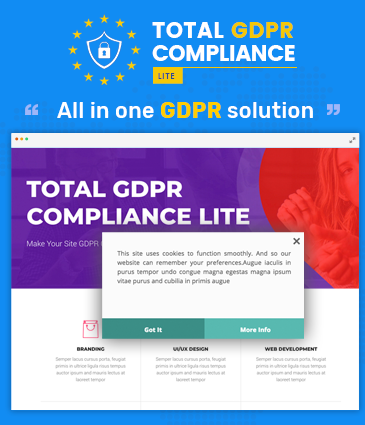 Total GDPR Compliance Lite - WordPress Plugin for GDPR Compatibility